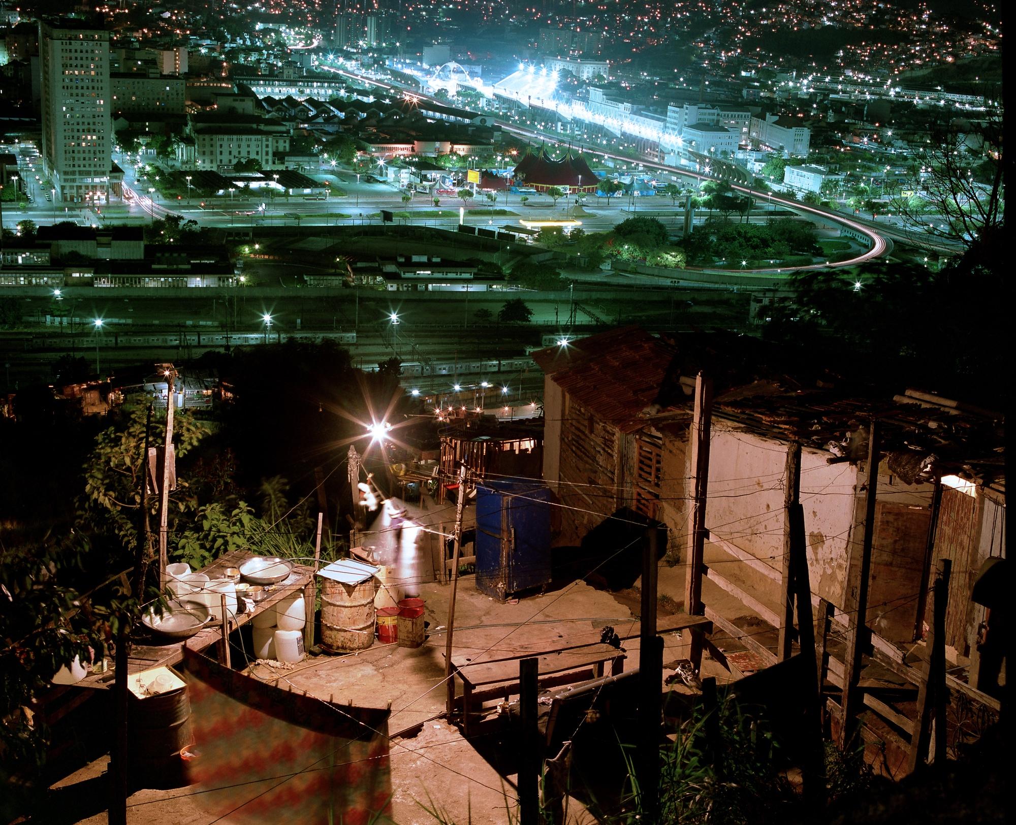 Um clique noturno do Morro da Providência. Crédito: Maurício Hora