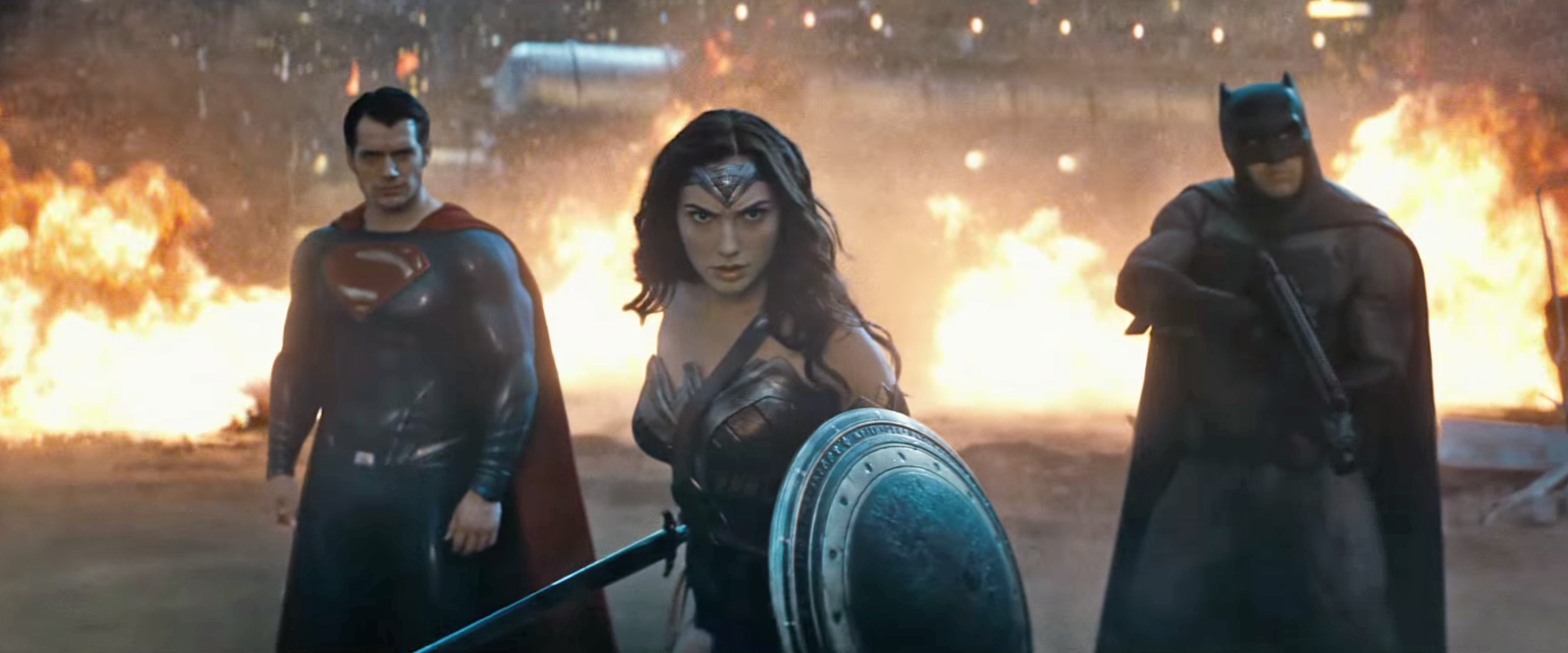 Superman, Mulher Maravilha e Batman
