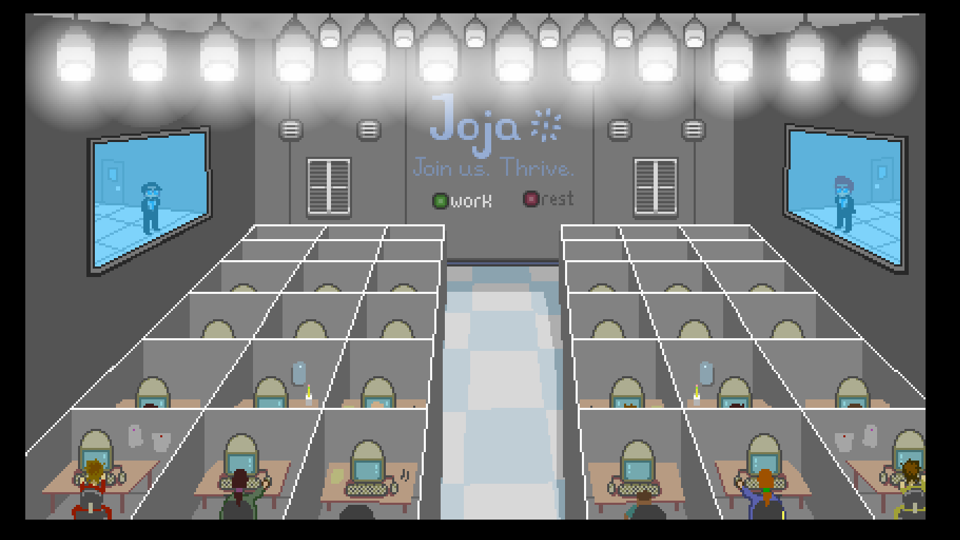 Um dia normal na Joja Corporation.