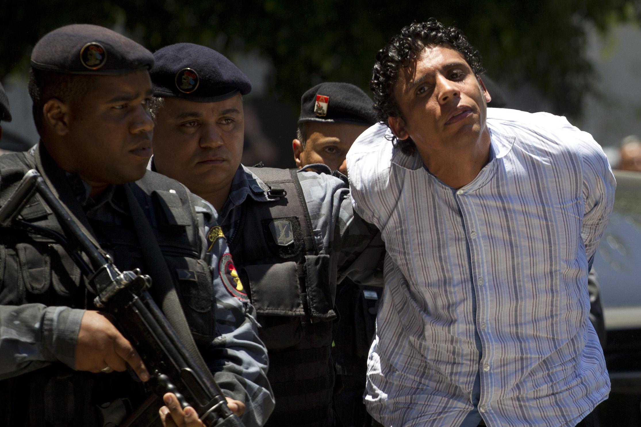 No dia 10 de novembro de 2011, Nem foi preso. Crédito: Felipe Dana/AP