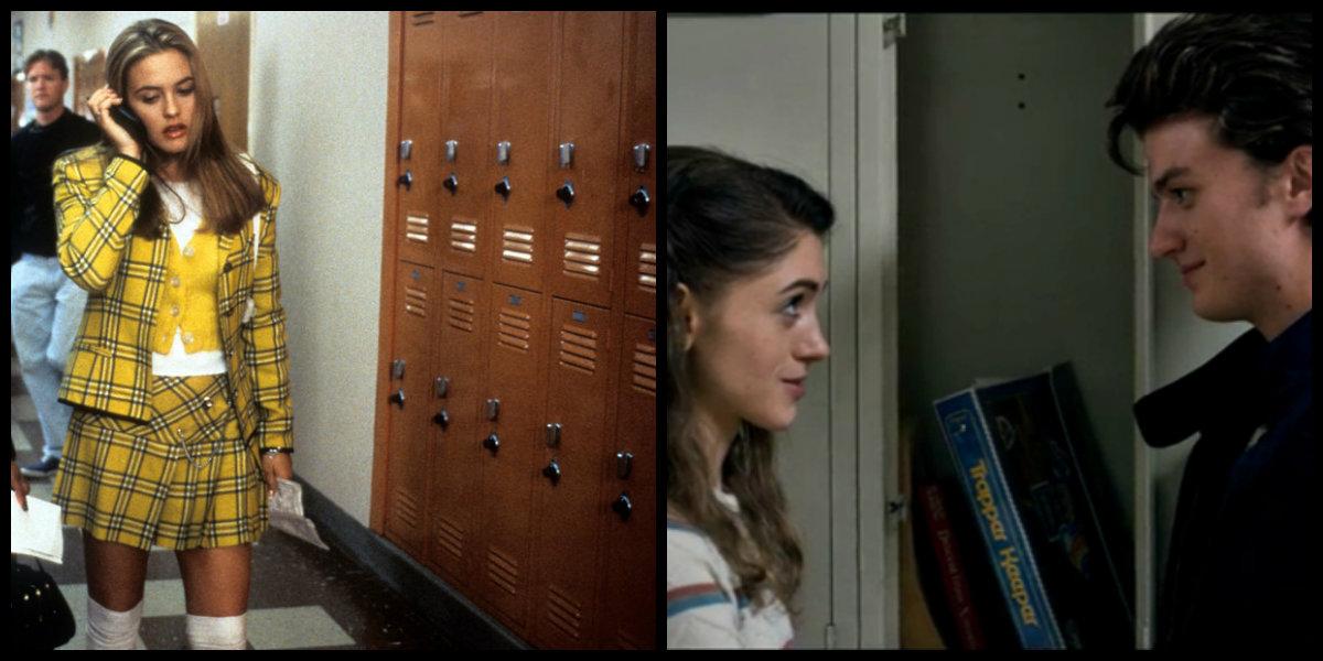 """Cher, de """"As Patricinhas de Beverly Hills"""" e Nancy, de """"Stranger Things"""" nos corredores da escola"""