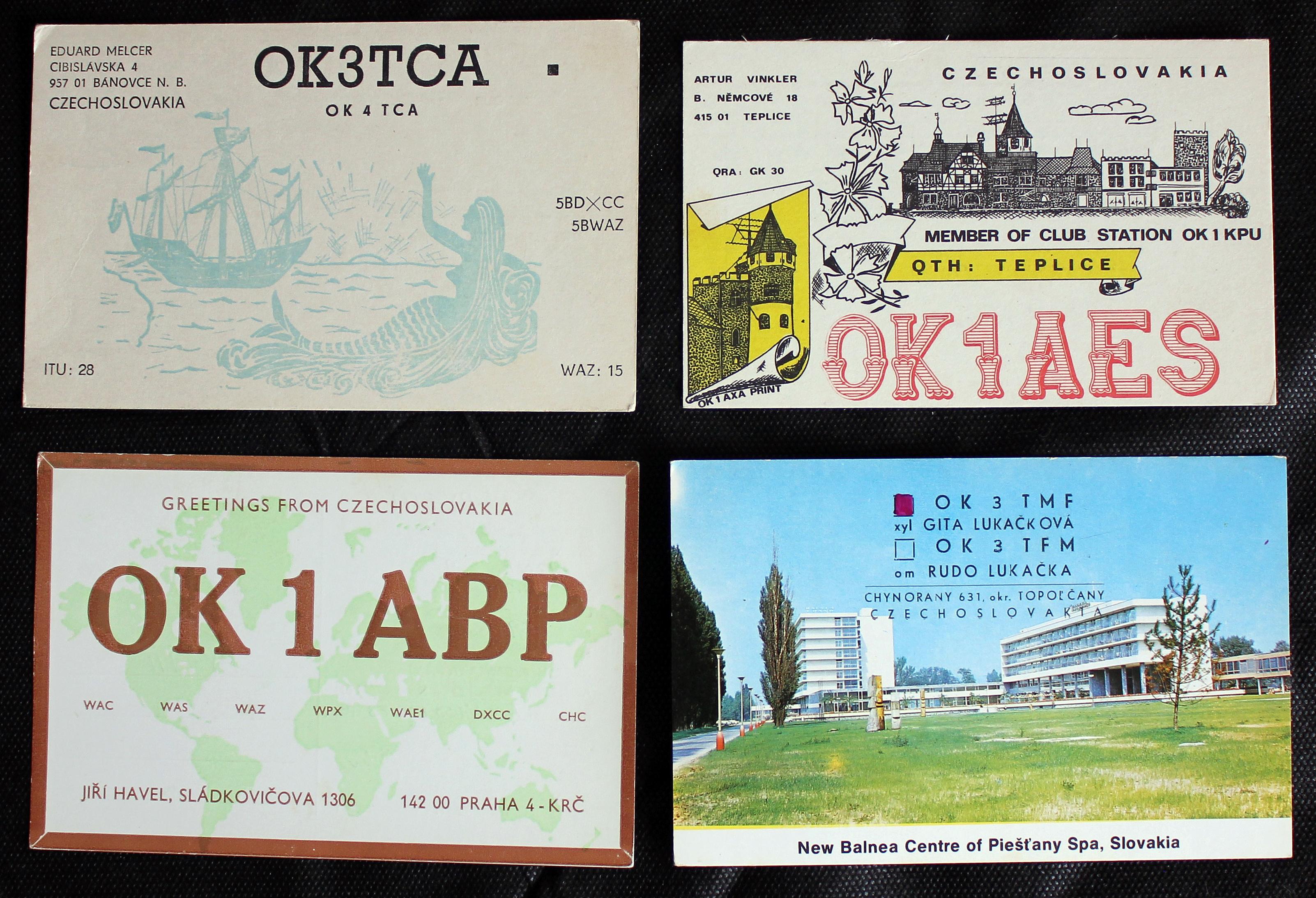 Cartões da antiga Tchecoslováquia