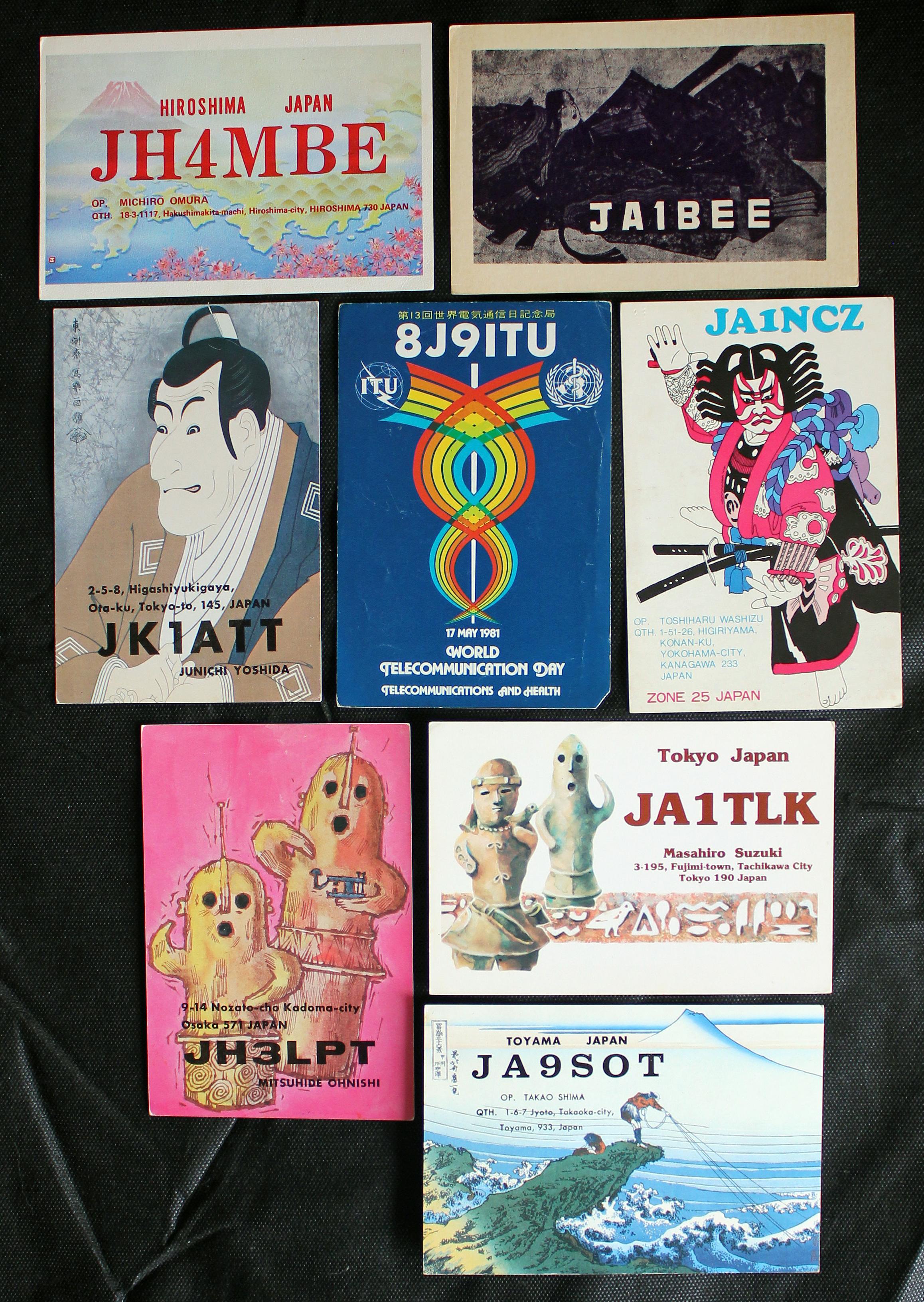 Cartões recebidos por Isnard do Japão
