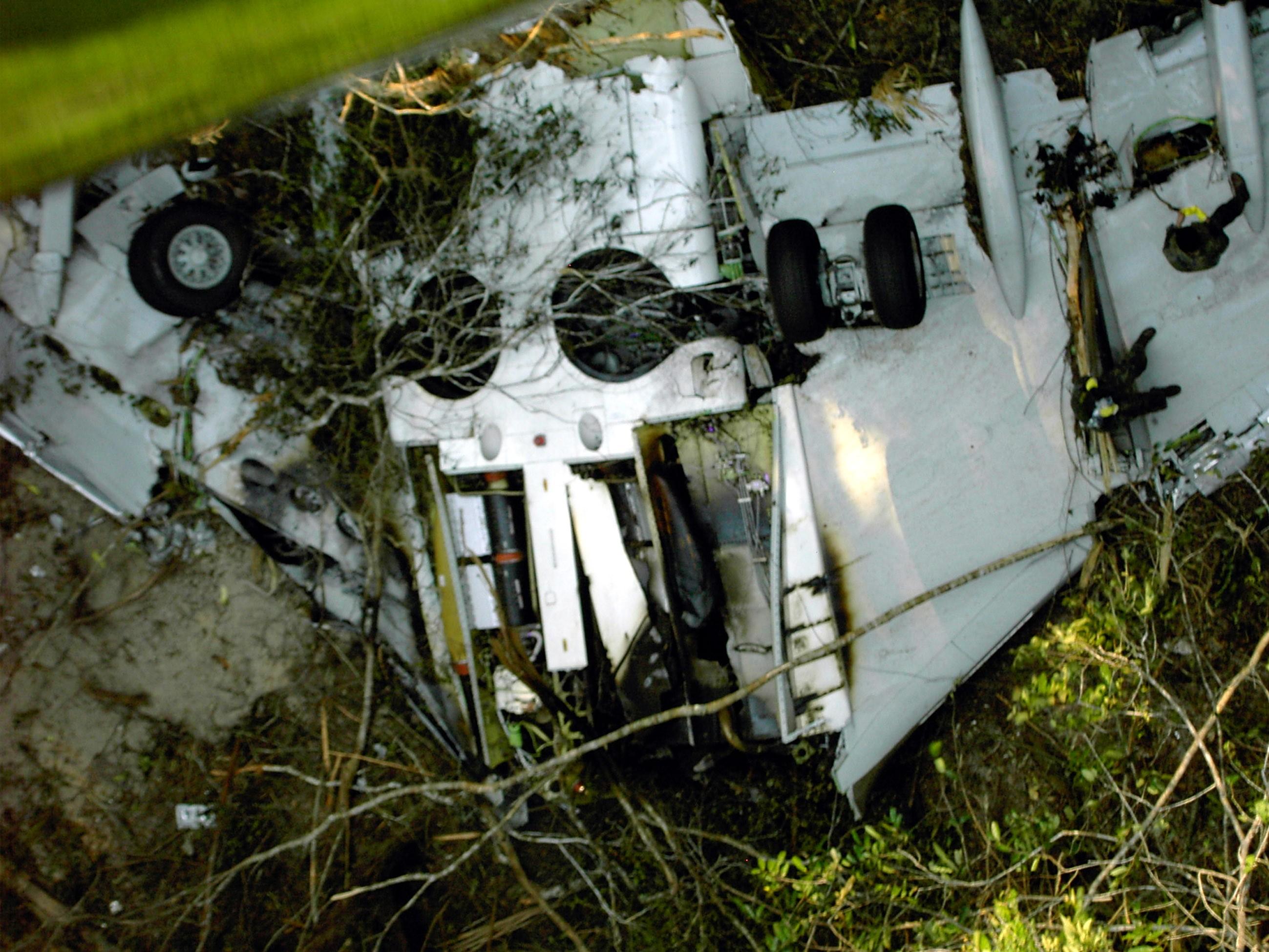 Os destroços do voo Gol 1907.