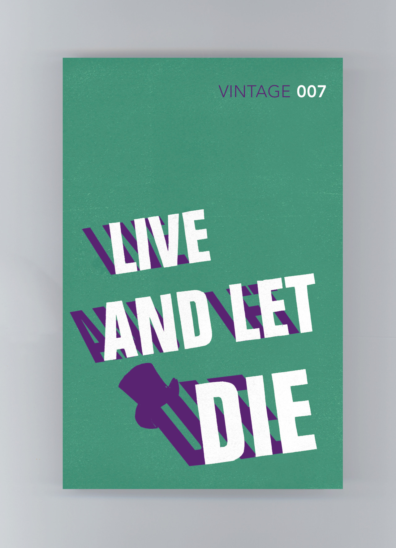 "Capa de James Jones para o livro ""Live and Let Die"", da série de James Bond"