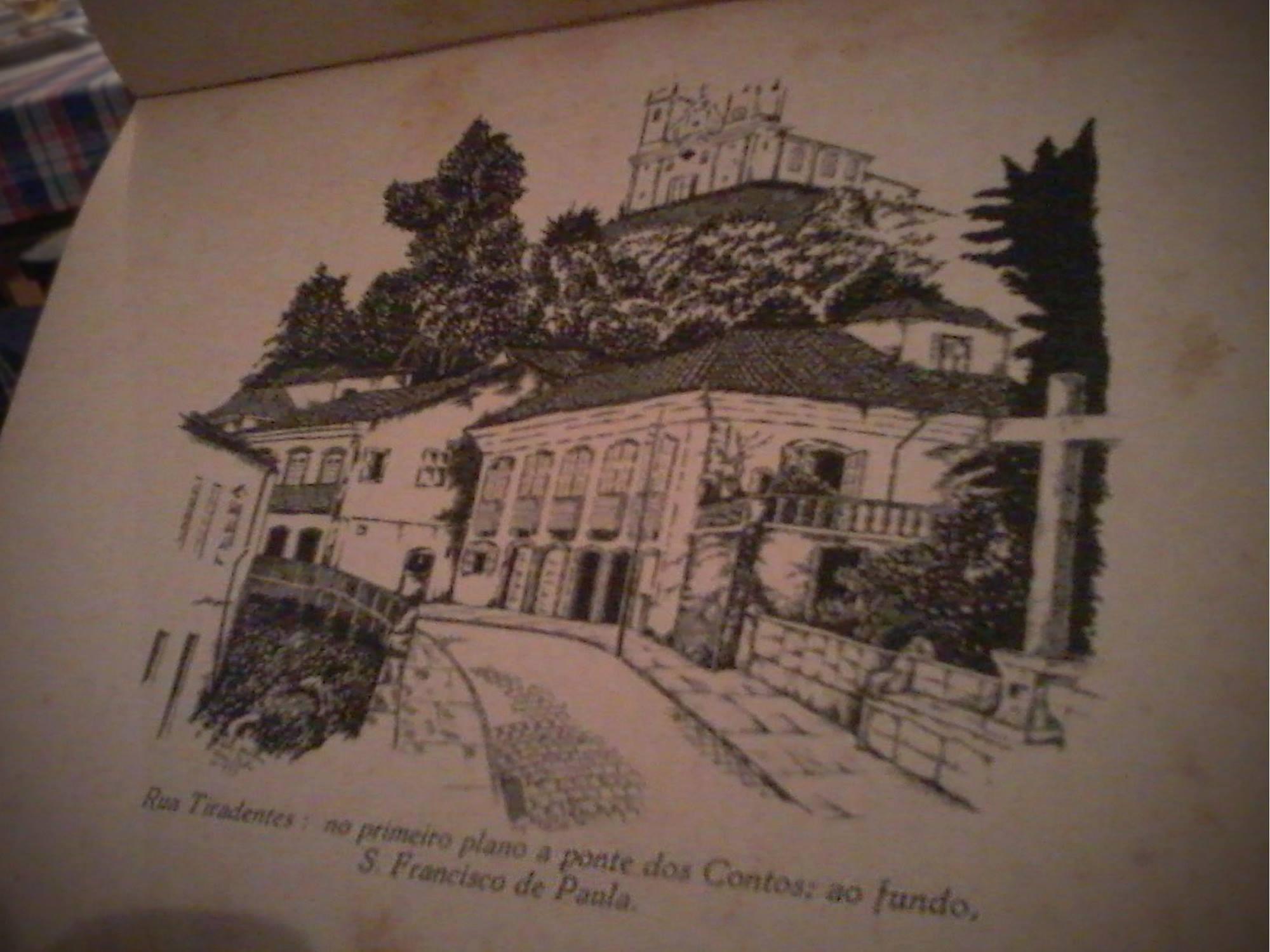 A fachada do Hotel Tóffolo no livro de desenhos de Manuel Bandeira. Crédito: Guilherme Aguiar